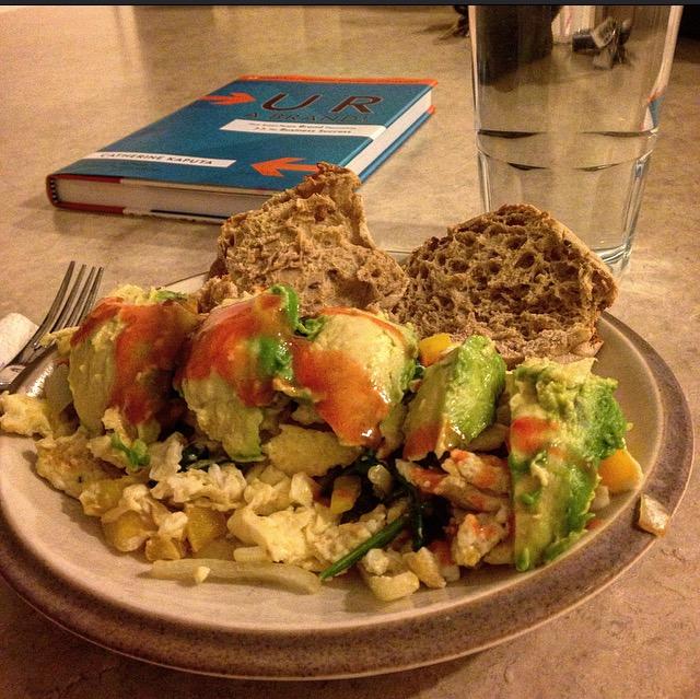 increase vegetable intake avocado hot sauce egg omelet