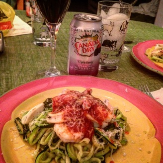 seafood zoodles zucchini noodles vegan vegetarian
