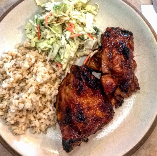 kickin spicy jalapeno coleslaw bbq chicken brown rice recipe