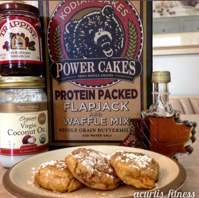 Maple Glazed Jelly Pronuts Recipe made with Kodiak Cakes PowercakesMix