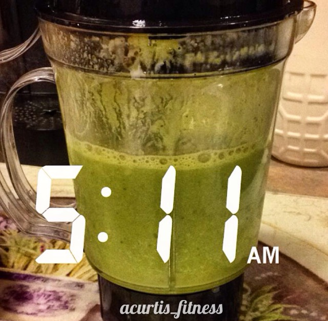 green tea smoothie coconut water high protein